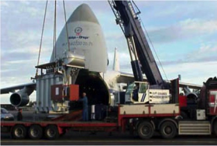 Autoclave Plant to Barbados Loading to Charter Aircraft