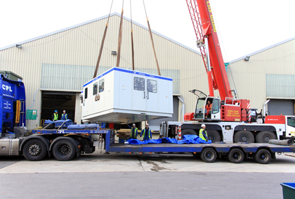 Factory Relocation UK - France by Road - Crane Loading