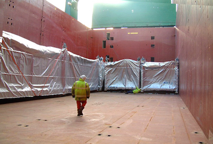 Shipment Modules to Malaysia - Charter Vessel